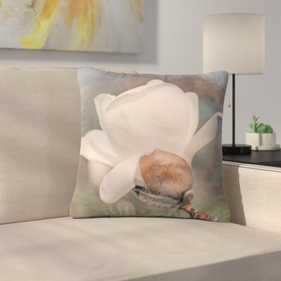 Angie Turner Magnolia Digital Floral Outdoor Throw Pillow Size: 16 H x 16 W x 5 D