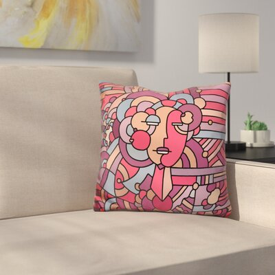 Deco Face 116 Throw Pillow