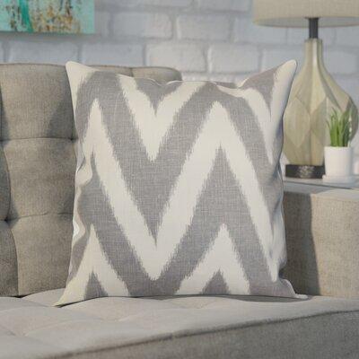 Moretti Cotton Throw Pillow Color: Grey, Size: 20 H x 20 W