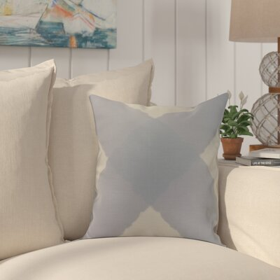 Crider X Marks the Spot Geometric Print Indoor/Outdoor Throw Pillow Color: Blue, Size: 20 x 20