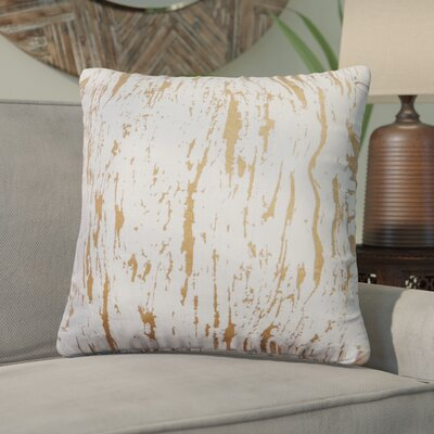 Darcia Decorative Throw Pillow Color: Gold