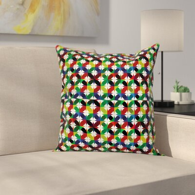 Stain Resistant Floral Pillow Cover Size: 18 x 18