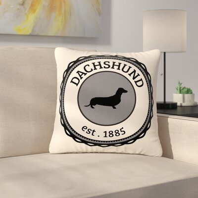 Dachshund Outdoor Throw Pillow Size: 16