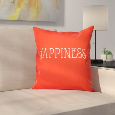 Mae Coastal Happiness Throw Pillow Size: 18 H x 18 W, Color: Red