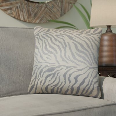 Woroud Zebra Print Throw Pillow Color: Slate