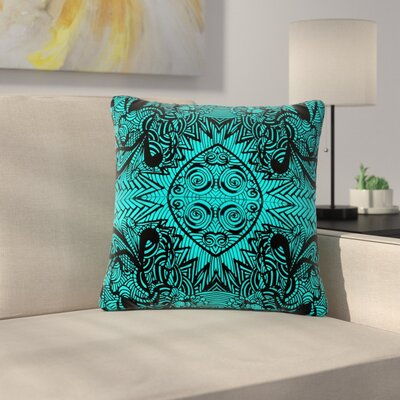Shirlei Patricia Muniz the Elephant Walk Ethnic Outdoor Throw Pillow Size: 16 H x 16 W x 5 D