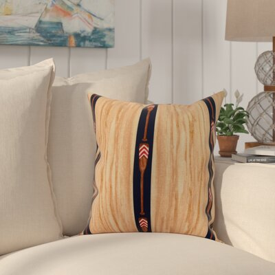 Crider Oar Stripe Trio Print Indoor/Outdoor Throw Pillow Color: Navy, Size: 16 x 16
