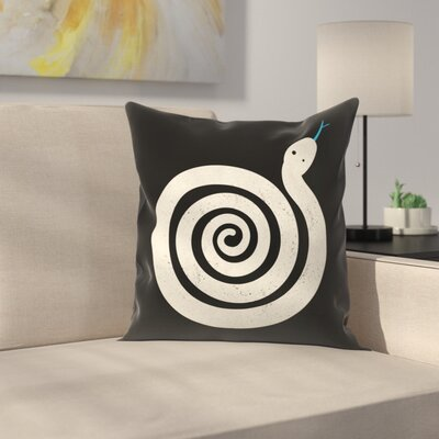 Sss Nake Throw Pillow Size: 16 x 16