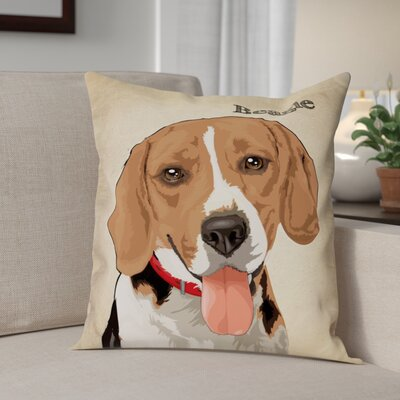 Crispin Beagle Throw Pillow