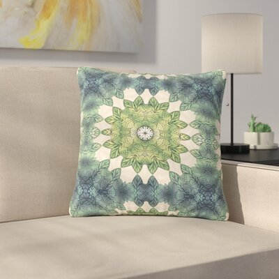 Art Love Passion Forest Leaves Repeat Geometric Outdoor Throw Pillow Size: 18 H x 18 W x 5 D