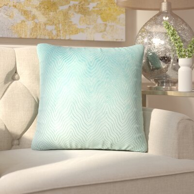 Chesterwood Solid Down Filled Throw Pillow Size: 18 x 18, Color: Turquoise