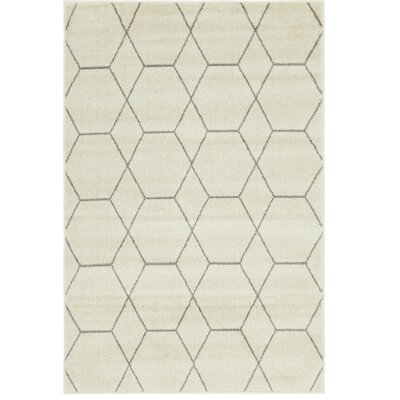 Eiler Trellis Ivory Area Rug Rug Size: Rectangle 4 x 6
