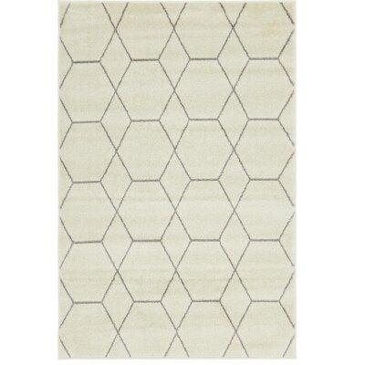 Eiler Trellis Ivory Area Rug Rug Size: Rectangle 4 x 6
