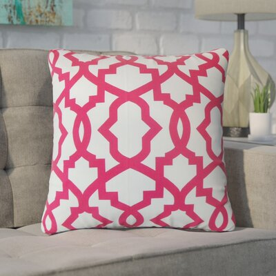Wolfson Geometric Cotton Throw Pillow Color: Pink