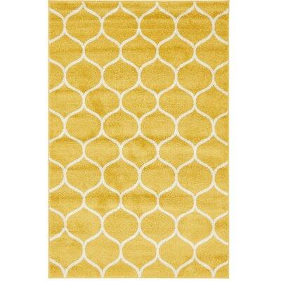 Easter Compton Trellis Yellow Area Rug Rug Size: Rectangle 4 x 6