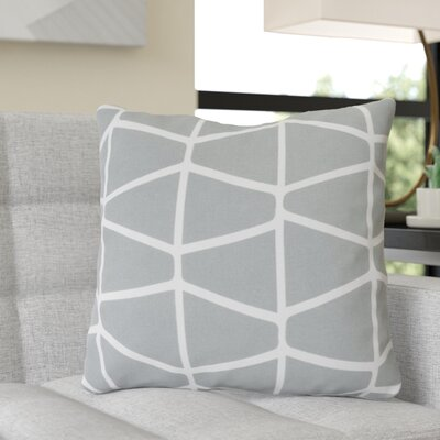 Ochoa Cotton Throw Pillow Size: 22 H x 22 W x 4 D, Color: Light Gray / Ivory