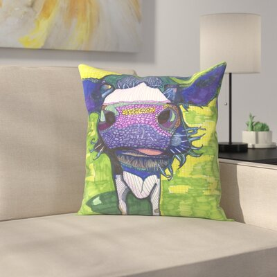 Cow in Face Throw Pillow Size: 20 x 20