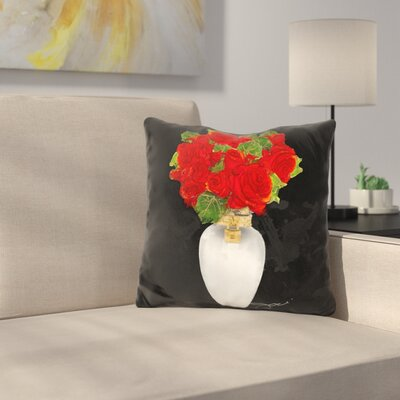 Flowers in Throw Pillow