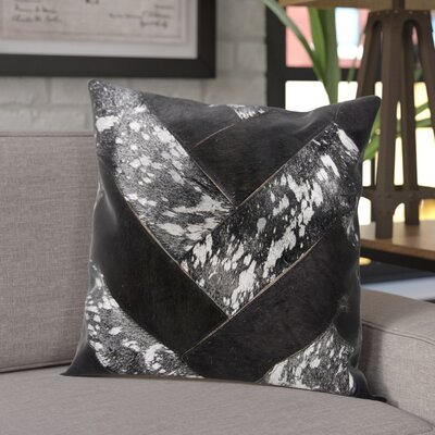 Boquillas Leather Throw Pillow Color: Black/Silver