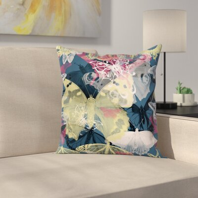 Butterflies Square Pillow Cover Size: 20 x 20