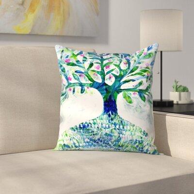 Paula Mills Floral Tree Throw Pillow Size: 16 x 16