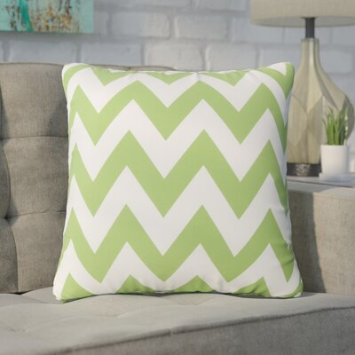 Swigart Square Indoor/Outdoor Throw Pillow Color: Green/White