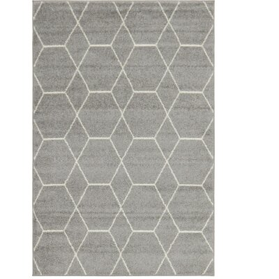 Eiler Trellis Gray Area Rug Rug Size: Rectangle 4 x 6