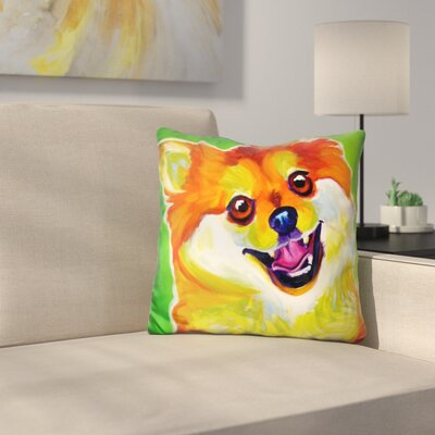 Pomeranian Tiger Throw Pillow