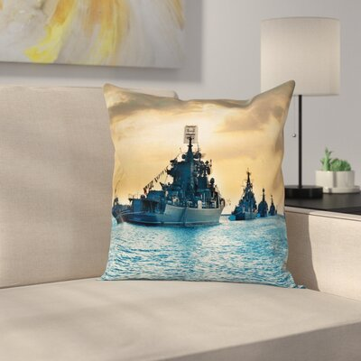 Warffare Battlefield Square Pillow Cover Size: 18