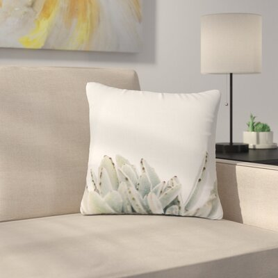 Kristi Jackson Succulent 3 Photography Outdoor Throw Pillow Size: 18 H x 18 W x 5 D