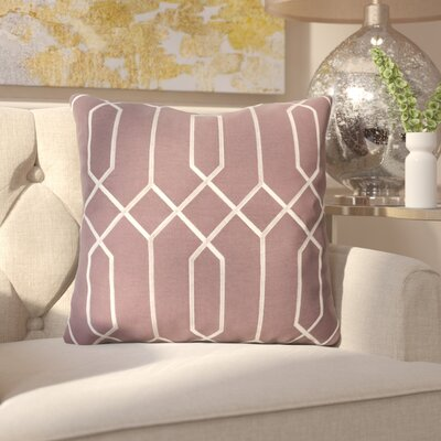 Kaivhon Geometric Linen Throw Pillow Size: 18 H x 18 W x 4 D, Color: Eggplant