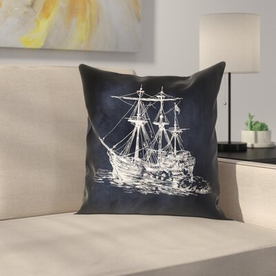 Ship 1 Throw Pillow Size: 18 x 18