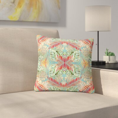 Alison Coxon Summer Jungle Love Outdoor Throw Pillow Size: 18 H x 18 W x 5 D, Color: Blue