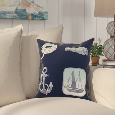 Harriet Sea Tools Throw Pillow Color: Navy, Size: 20 x 20