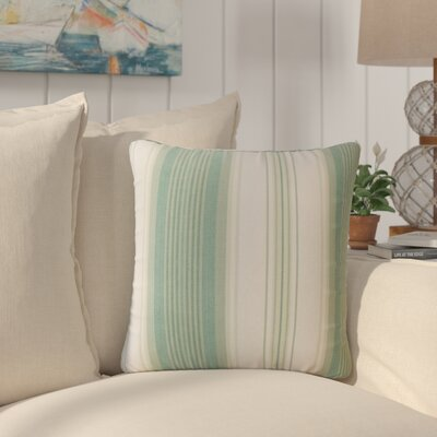 Imala Striped Down Filled 100% Cotton Throw Pillow Size: 18 x 18, Color: Seaglass