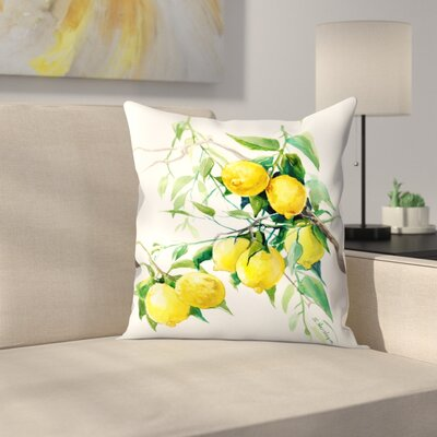 Suren Nersisyan Lemon Tree 2 Throw Pillow Size: 14 x 14
