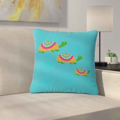 Cristina Bianco the Turtles Outdoor Throw Pillow Size: 18 H x 18 W x 5 D