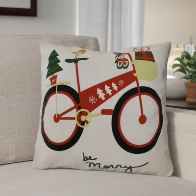 Decorative Holiday Geometric Print Square Throw Pillow Size: 18 H x 18 W, Color: Red