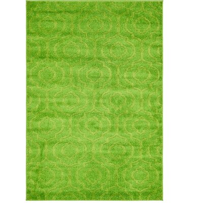 Mcreynolds Trellis Green Area Rug Rug Size: Rectangle 4 x 6