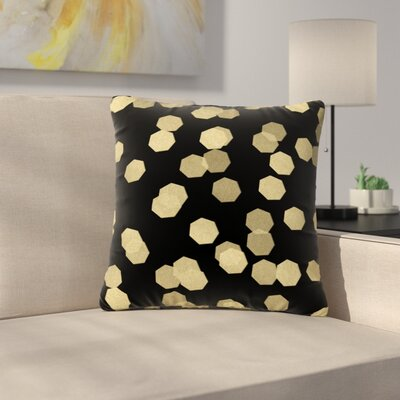 Confetti Noir Outdoor Throw Pillow Size: 18 H x 18 W x 5 D