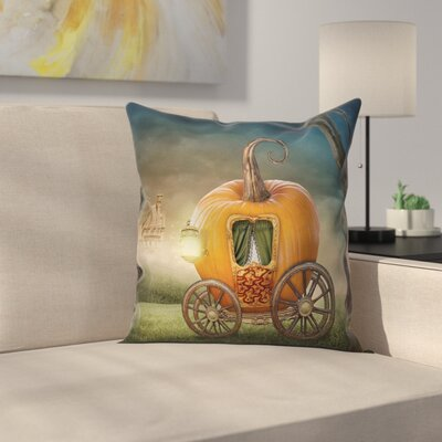 Pumpkin Coach Pillow Cover Size: 18 x 18