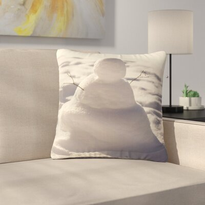 Angie Turner Snowman Nature Outdoor Throw Pillow Size: 18 H x 18 W x 5 D