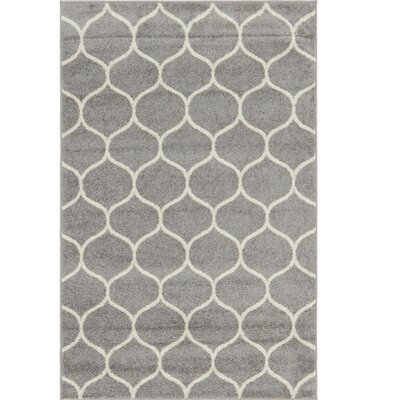 Easter Compton Trellis Light Gray Area Rug Rug Size: Rectangle 4 x 6