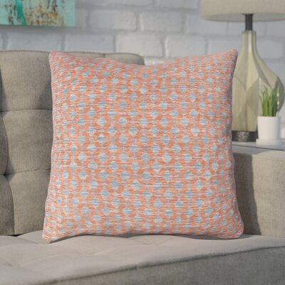 Foerster Geometric Diamond Throw Pillow Color: Orange