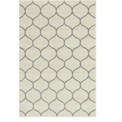 Easter Compton Trellis Ivory Area Rug Rug Size: Rectangle 4 x 6