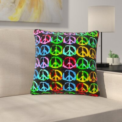 Anne LaBrie Give Peace a Chance Pop Art Outdoor Throw Pillow Size: 18 H x 18 W x 5 D