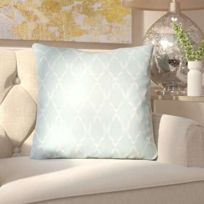 Bonaway Indoor/Outdoor Throw Pillow Size: 20 H x 20 W x 3.5 D, Color: Light Blue