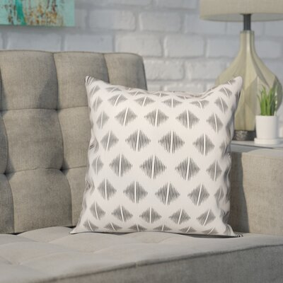 Revere Abstract Throw Pillow Color: White, Size: 16 x 16, Type: Pillow Cover