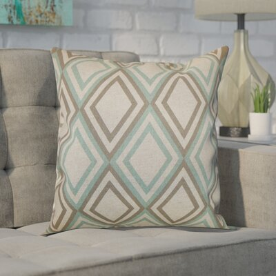 Elmore Geometric Cotton Throw Pillow Color: Eaton Blue Kelp, Size: 20