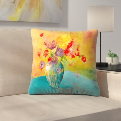 Sunshine Taylor Large Vase Indoor/Outdoor Throw Pillow Size: 14 x 14